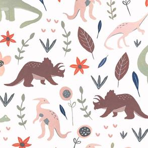 Gouache Dinosaurs