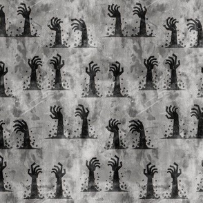 Zombie hands - halloween - grey 2 - LAD19