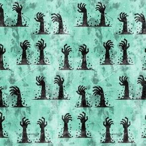 Zombie hands - halloween - teal 1 - LAD19
