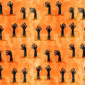Zombie hands - halloween - orange 2 - LAD19