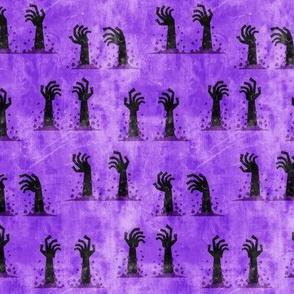 Zombie hands - halloween - purple - LAD19