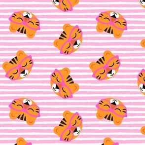 Cute Tigers - Pink stripes - LAD19