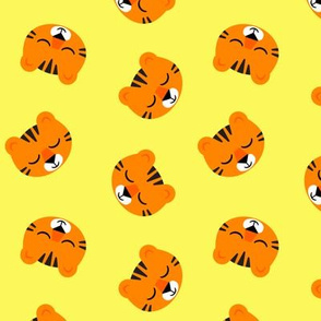 Cute Tigers - Yellow - LAD19