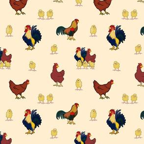 Chickens on Cream