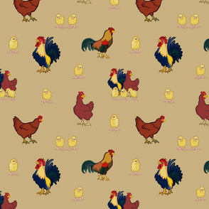 Chickens on Gold