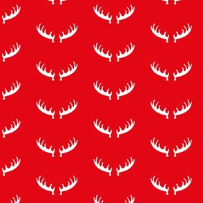 Seasonal christmas theme canada moose and deer antlers 2019 red