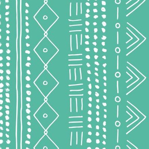 Seasonal christmas mudcloth design for the holidays in 2019 color palette abstract minimal mint green