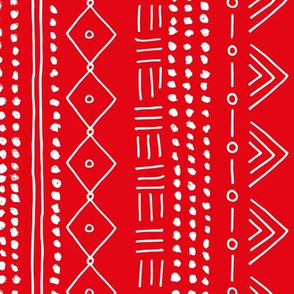Seasonal christmas mudcloth design for the holidays in 2019 color palette abstract minimal red