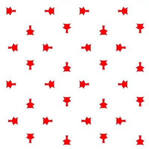 Red pins pattern
