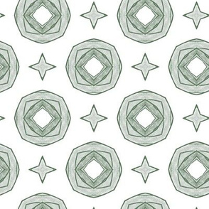 Green rings pattern
