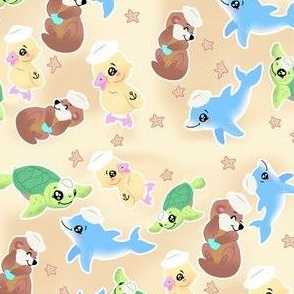 sandy baby nautical animals
