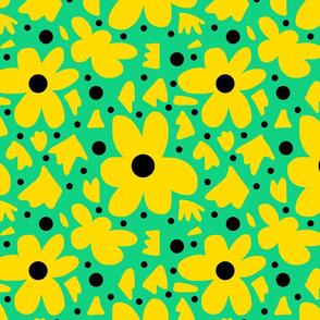 Hope #15  yellow on green + black
