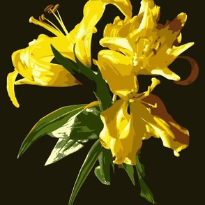 Yellow Lily Paint by Numbers