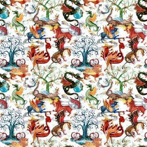 "Seamless Pattern ""Dragon Kingdom"""