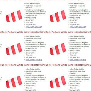 Wind Indicator (Wind Sock) Red And White