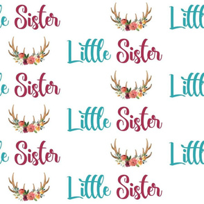 paprika floral little sister floral antlers