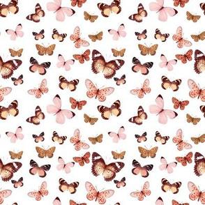 Butterflies Rose Gold Pink