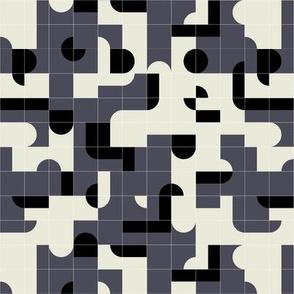 Blue Puzzle Tiles