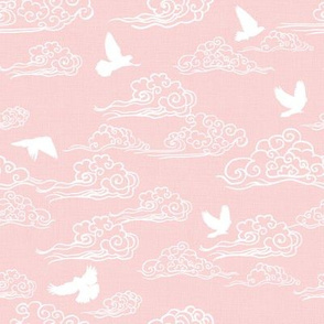 Doves & Clouds, Soft Pink