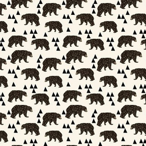 SMALL - geo bear // small version kids geometric trendy triangle bear