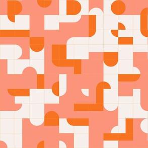 Coral Puzzle Tiles