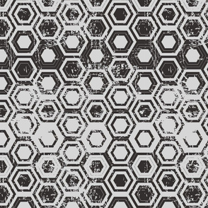 Worn hexagons