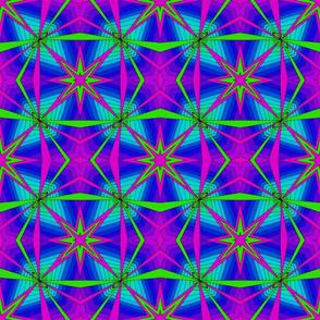Starburst Green and Purple