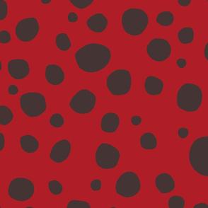 Ladybug Black and Red Dots Jumbo