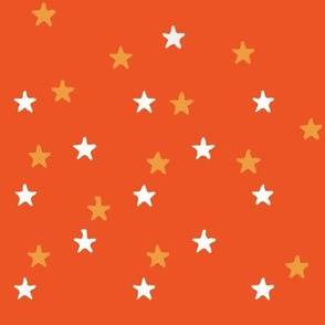 Summer Stars in Orange and Yellow