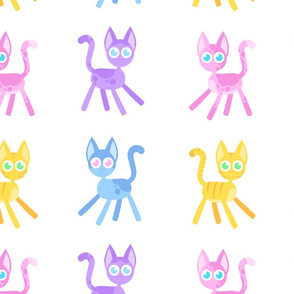 Kawaii Colorful Kittens