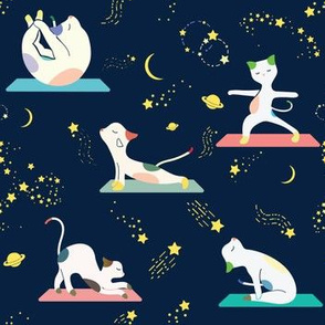Space yoga class