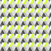 Fitness geometric neon & gray diamonds