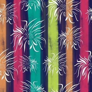 Pastel Floral Stripes