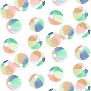 tropical beach balls peach tropics collection