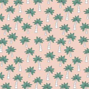 Palm tree jungle and little tropical garden surf print theme summer sand green ocean