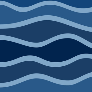 Waves dark JUMBO scale
