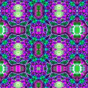 Purple & Green Random Patten