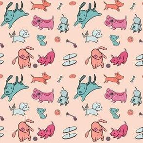 Cute Dogs Peach