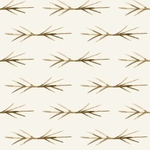Sepia Cream Toned TWIG SPIKES stripe