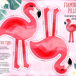 Flamingo pillow yard