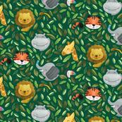 Hidden Jungle Cuties - Green Background