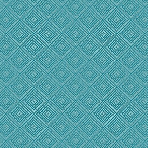 Boxes // white on teal