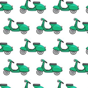 scooter - moped - green - LAD19