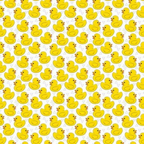 tiny rubber ducks with triangles