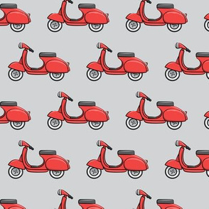 scooter - moped - red on grey - LAD19