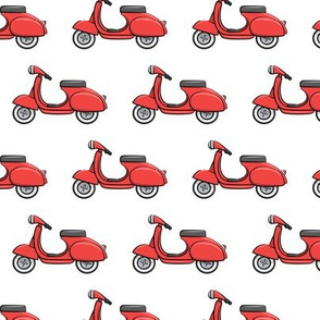 scooter - moped - red - LAD19