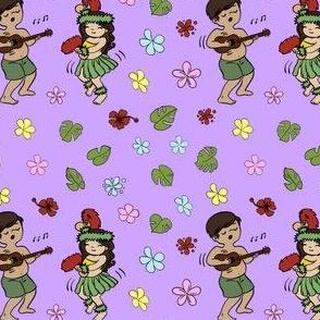Cute Hawaiian Kids Lavender