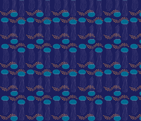 Jellyfish fabric by shereeboyd on Spoonflower - custom fabric