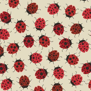 All Over Modern Ladybug Reds