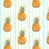 Pineapple on Stripes